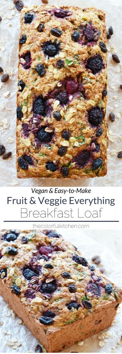 Vegan Fruit And Veggie Everything Breakfast Loaf