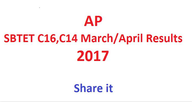 ap sbtet results 2017,c14 results 2017