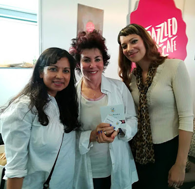 Anna-Christina with fellow authors Dawattie Basdeo and Ruby Wax