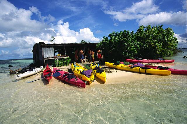 Tam Tam Pagaie, des canoés sur un ilet en Guadeloupe