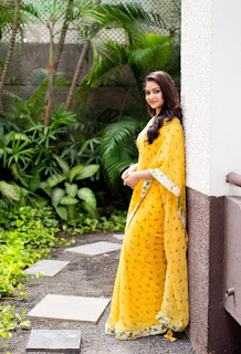 Keerthy Suresh in Yellow Saree with Cute and Awesome Lovely Smile for Mahanati Promotions 6