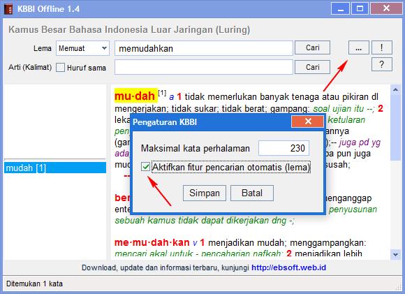 Aplikasi Kamus Besar Bahasa Indonesia Luar Jaringan