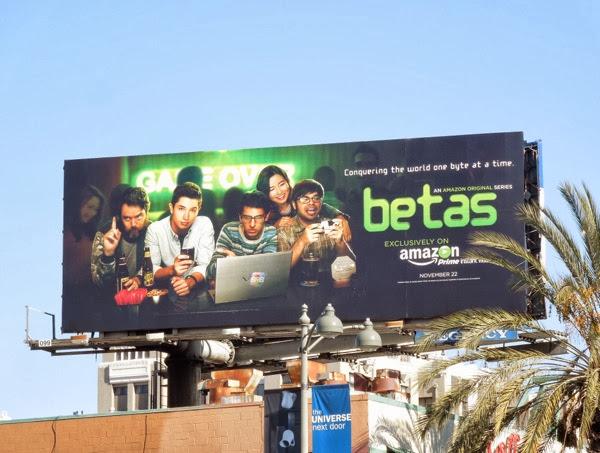 Betas series premiere TV billboard
