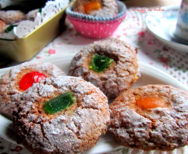 Galletas de almendra y naranja confitada sin gluten