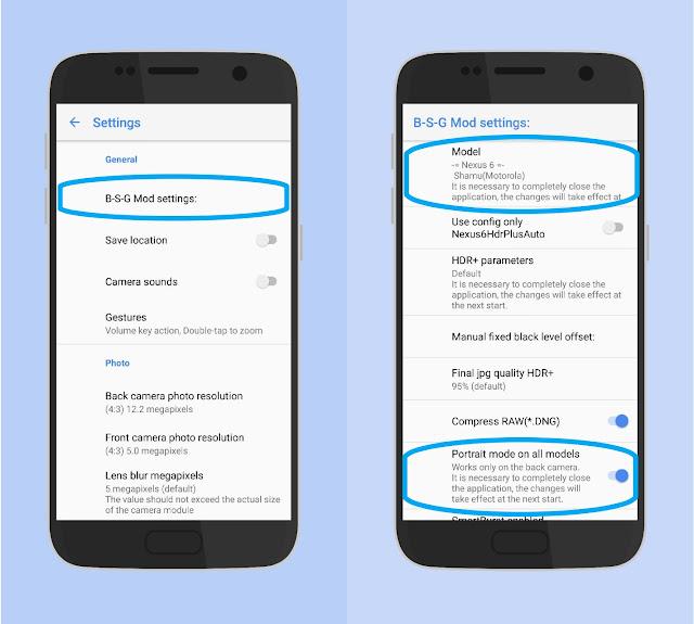 Setting B-S-G Kamera Google Pixel 2 Exynos