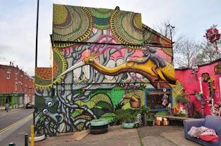 Graffiti en las calles de Bristol, Inglaterra