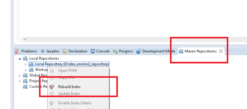 Troubleshooting Missing Artifact in Eclipse Maven Repository