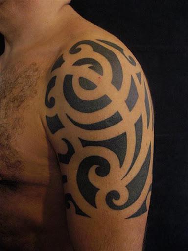 Este maori meia manga