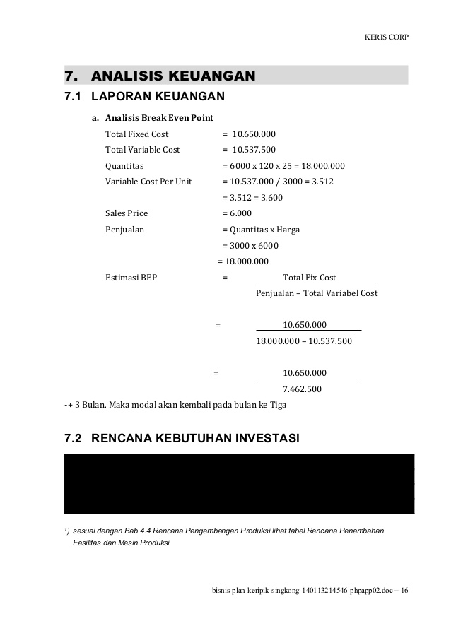 Contoh Laporan Hasil Penjualan Keripik Singkong Kumpulan Contoh Laporan