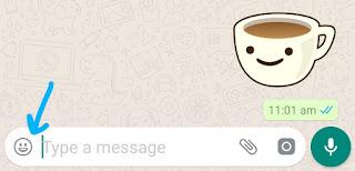 Tap emoji icon