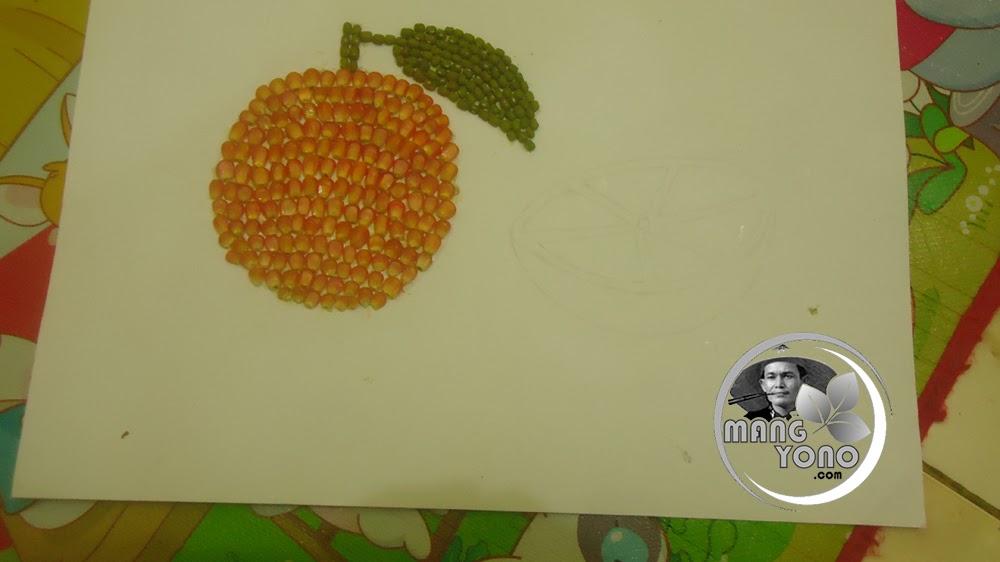 Tugas Sekolah Cara Membuat Mozaik Buah Buahan Dari Biji Bijian