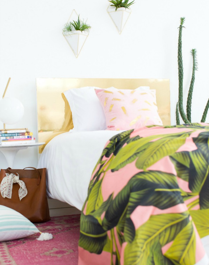 Decorar un dormitorio tropical con diy y un presupuesto de 100€