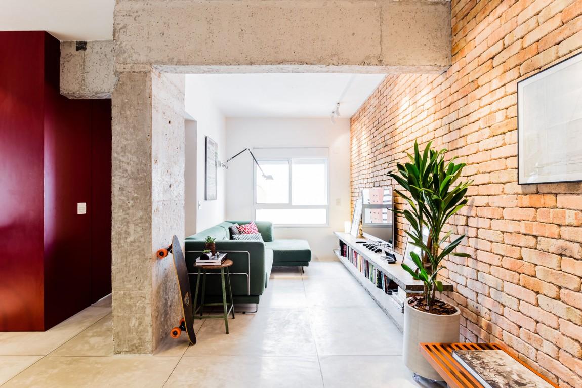 stil industrial minimal i modern ntr un apartament de 2 camere jurnal de design interior. Black Bedroom Furniture Sets. Home Design Ideas