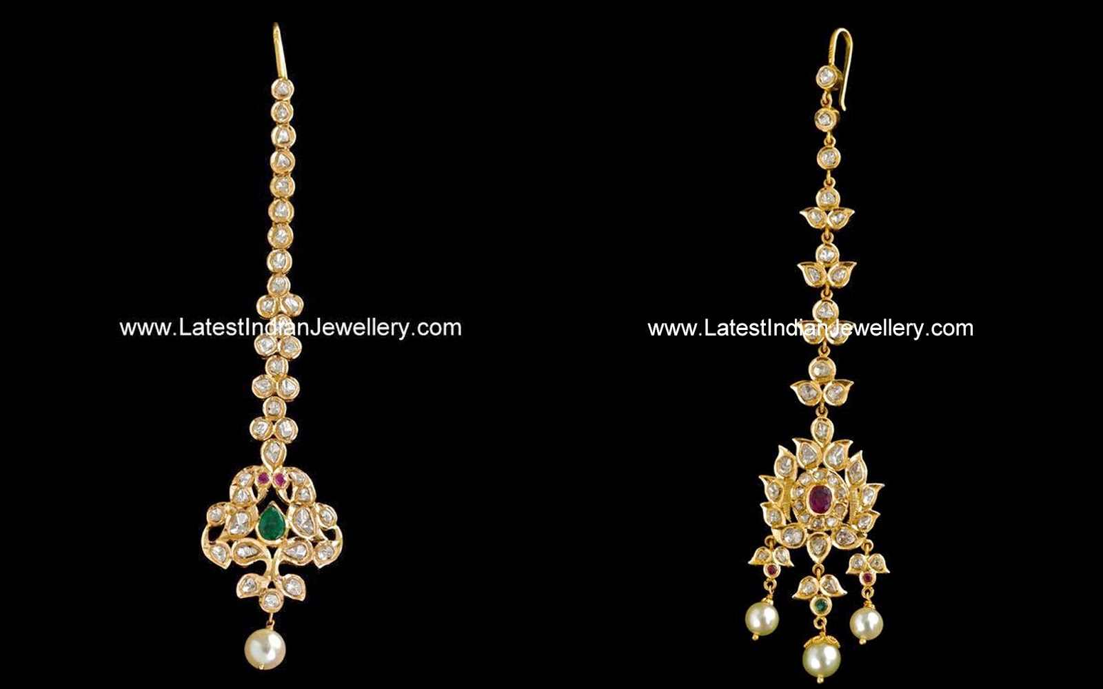 Uncut Diamond Maang Tikka Designs