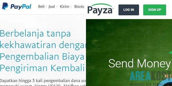 Cara Mendaftar Akun PayPal dan Payza