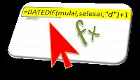 Rumus Excel Menghitung Jumlah Hari
