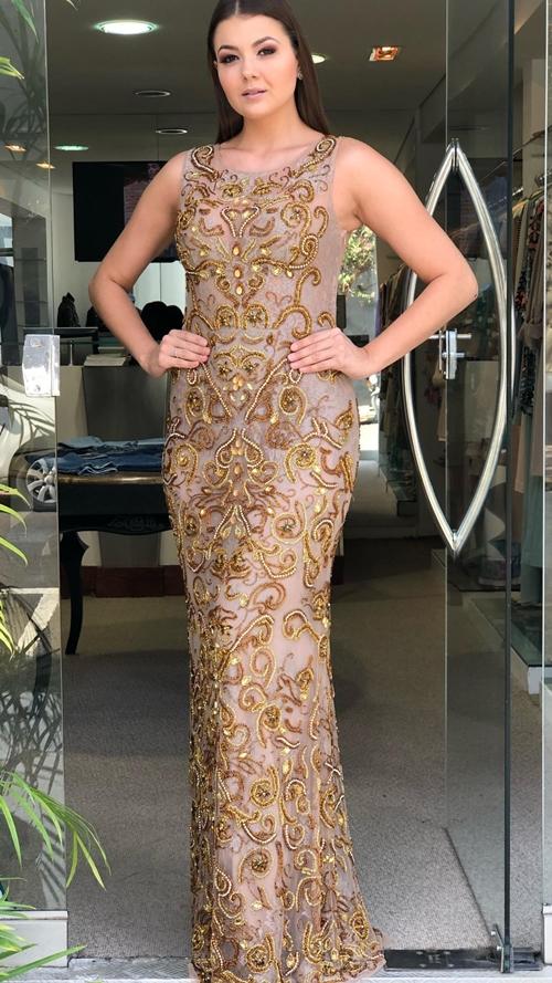 vestido dourado para madrinha