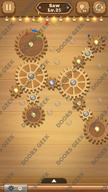 Fix it: Gear Puzzle [Saw] Level 25 Solution, Cheats, Walkthrough for Android, iPhone, iPad and iPod