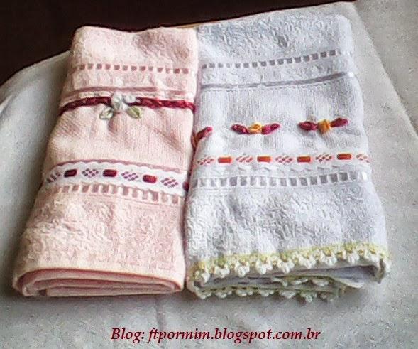 toalhinhas bordadas