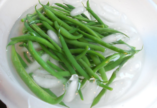 Green Beans in an Ice Bath