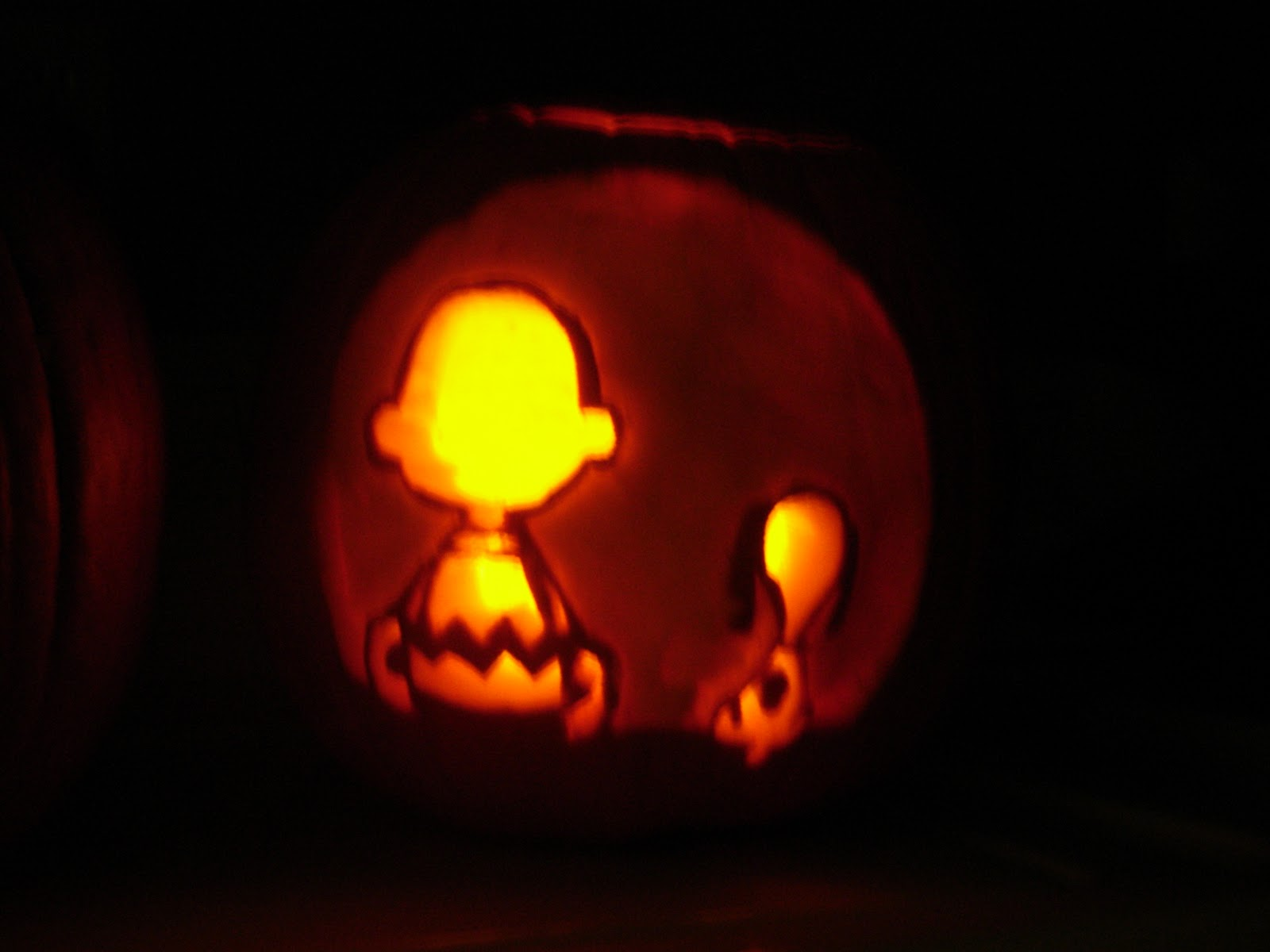 Charlie And Brown Stencil Snoopy Pumpkin