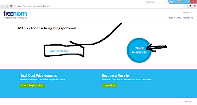 Setup .ga, .tk, .cf, .ml, .gq domain in Blogger blogspot