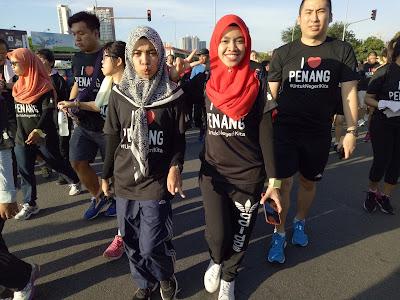 i love penang run , pengalaman menyertai larian i love penang , untuk negeri kita , penang run , penang , dewan dato haji ahmad badawi