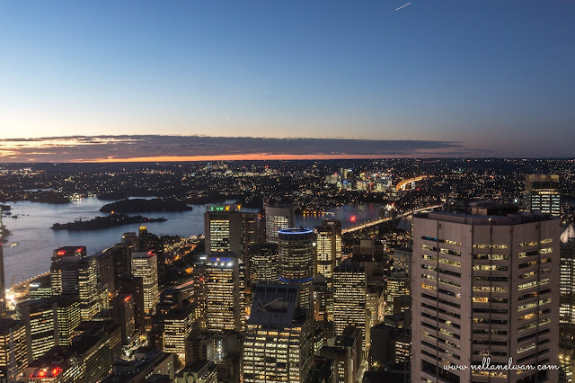 sunset at sydney eye tower