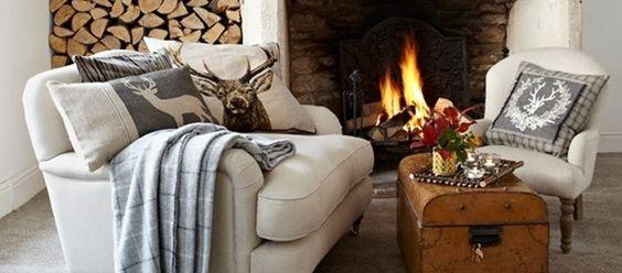 Casa quentinha e aconchegante no inverno