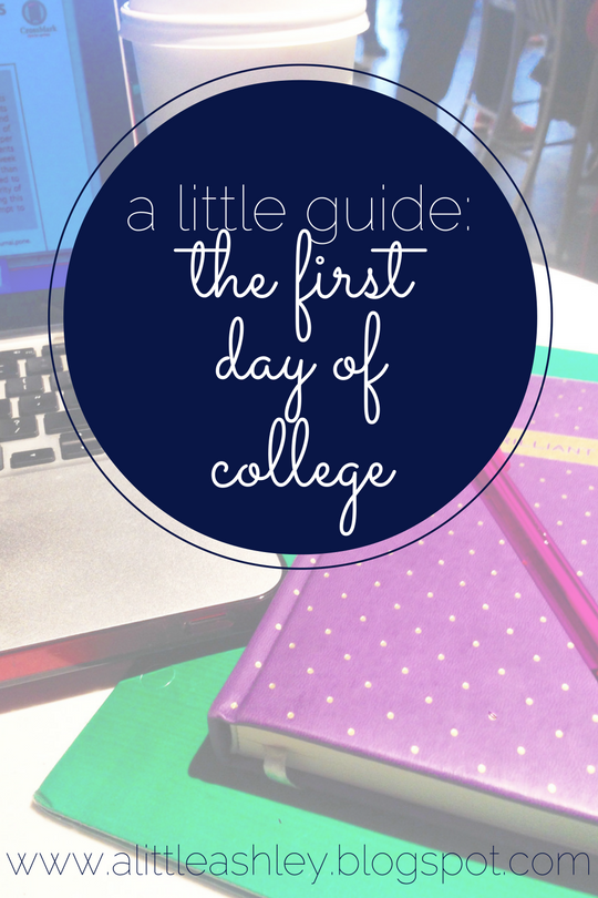 What to know for your first day of college!