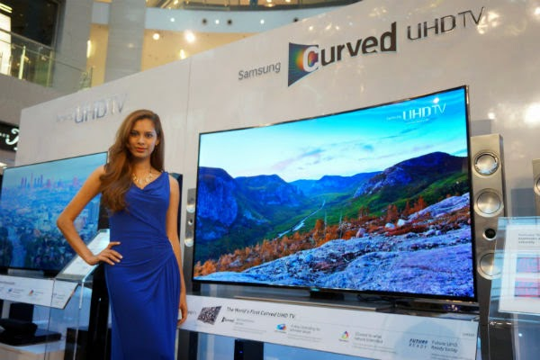 Here's how your SELFIE can win you a Samsung Curved UHD TV