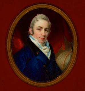 Watercolour on ivory portrait of Joseph Bouchette, by John Engleheart, 1815