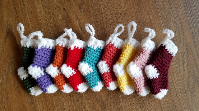 Crochet From J Mini Christmas Stocking Ornaments