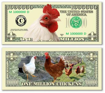 Tiền triệu đô hình con gà