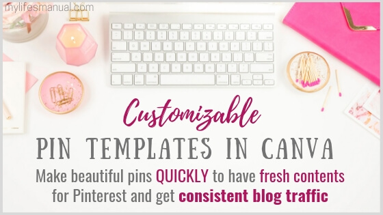 Pinterest Templates in Canva For Busy Bloggers