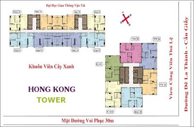 Mặt bằng căn hộ chung cư Hong Kong