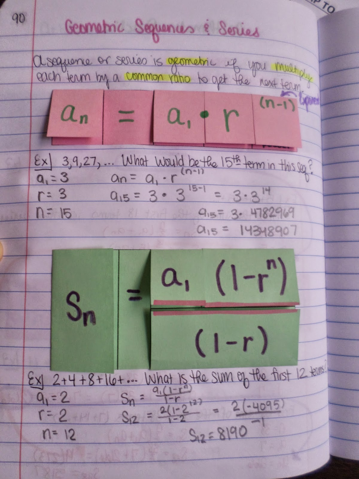 Math = Love: Sequences and Series Foldables & INB Pages