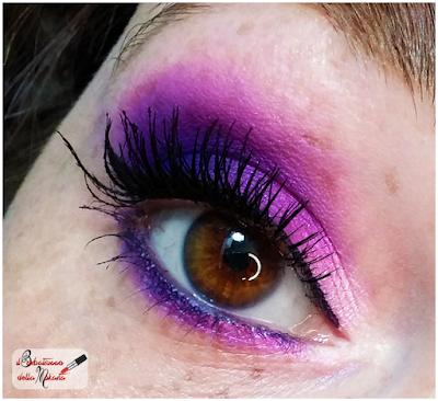 Makeup Defa Cosmetics , eyeshadow, domino, ombretto,  viola ,