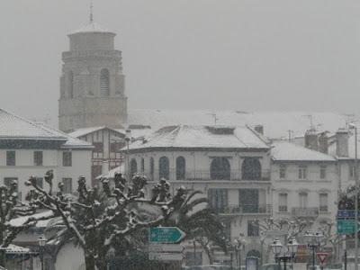 pays basque sous la neige