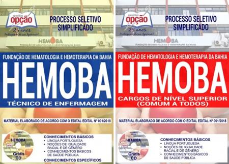 Apostila Processo Seletivo HEMOBA TÉCNICO DE ENFERMAGEM 2018