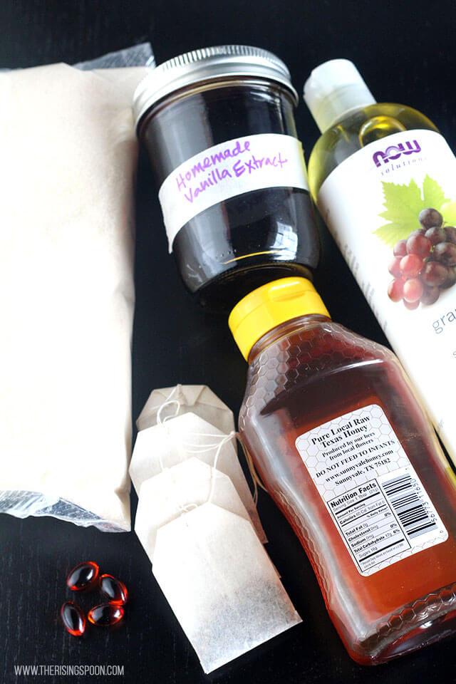 DIY Chai Vanilla Sugar Scrub Recipe Ingredients