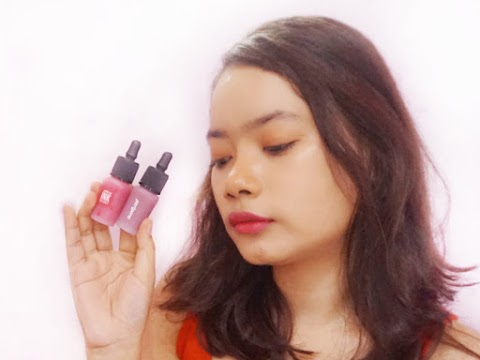 Review Peripera Airy Ink Velvet - Beautiful Coral Pink & Legend Brown Red