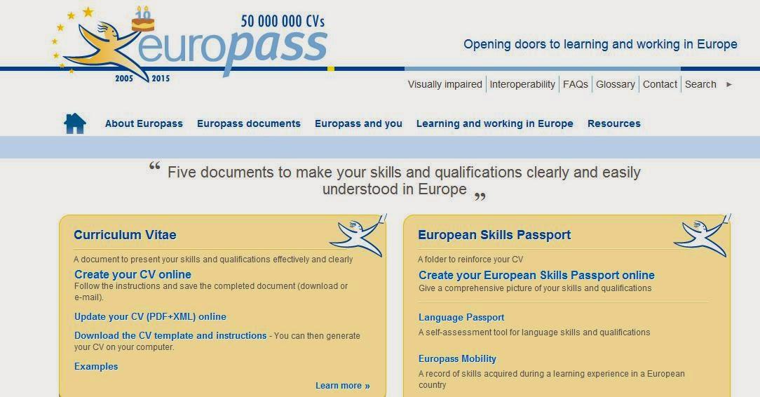 Cv Europass For Students Cv Writing Services