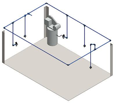 air compressor piping close loop halo shop