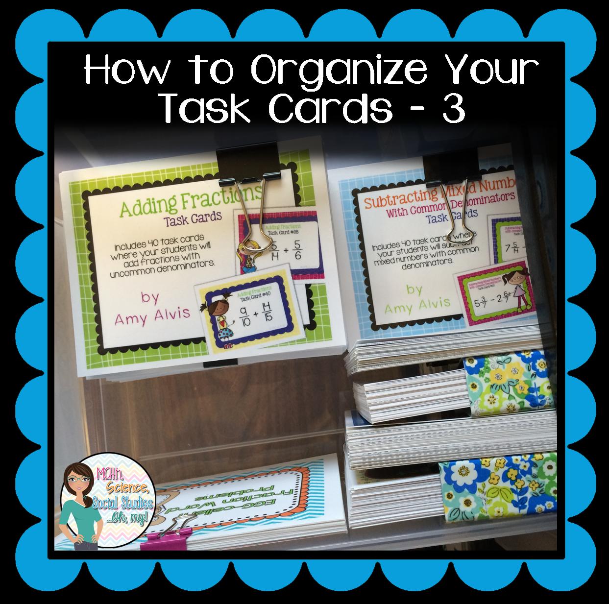 Math, Science, Social Studies......Oh, My!: Task Card