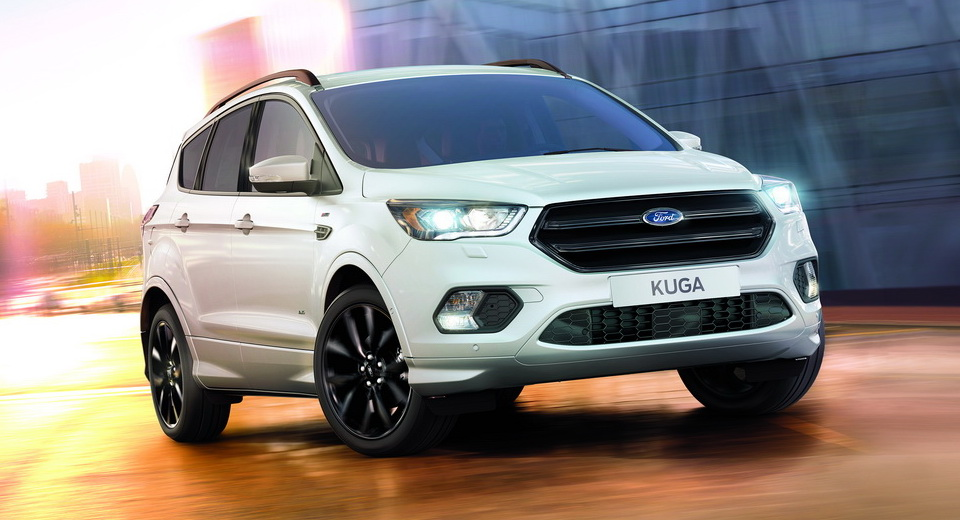 ford kuga gains sporty st line version on sale this fall. Black Bedroom Furniture Sets. Home Design Ideas