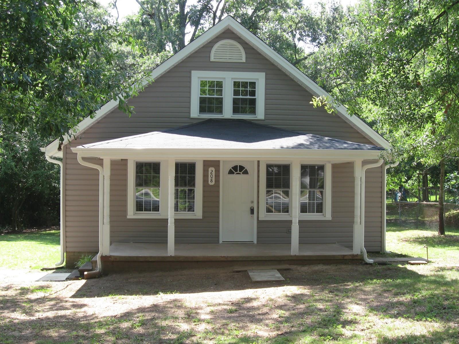 Sherrod house nalley street the final product - White house gray trim ...