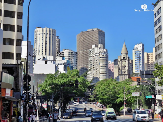 Vista ampla da parte baixa da Consolação - São Paulo