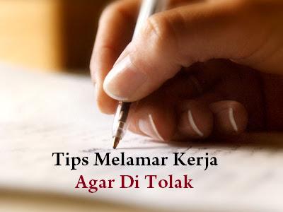 Tips Melamar Kerja Agar Di Tolak