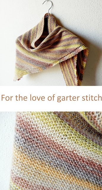 Beginner shawl knitting pattern now on Ravelry - a relaxing knit for everyone